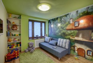 красивый потолок из пвх пленки в детской картинка