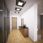 светлый интерьер проходной комнаты фото
