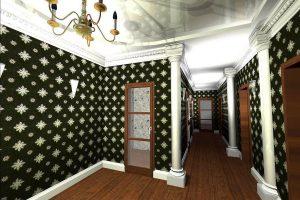 жидкие обои в коридор дизайн картинка